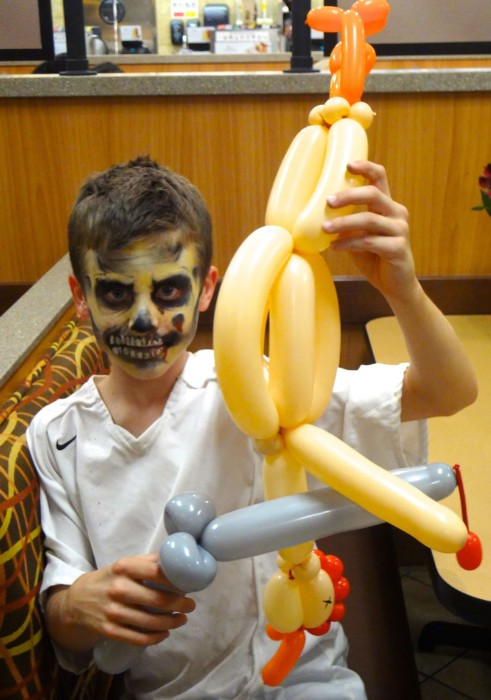 balloon art twisting 110