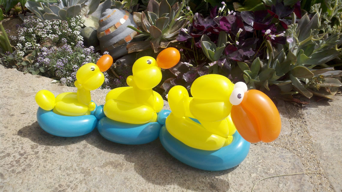 balloon art twisting animals ducks