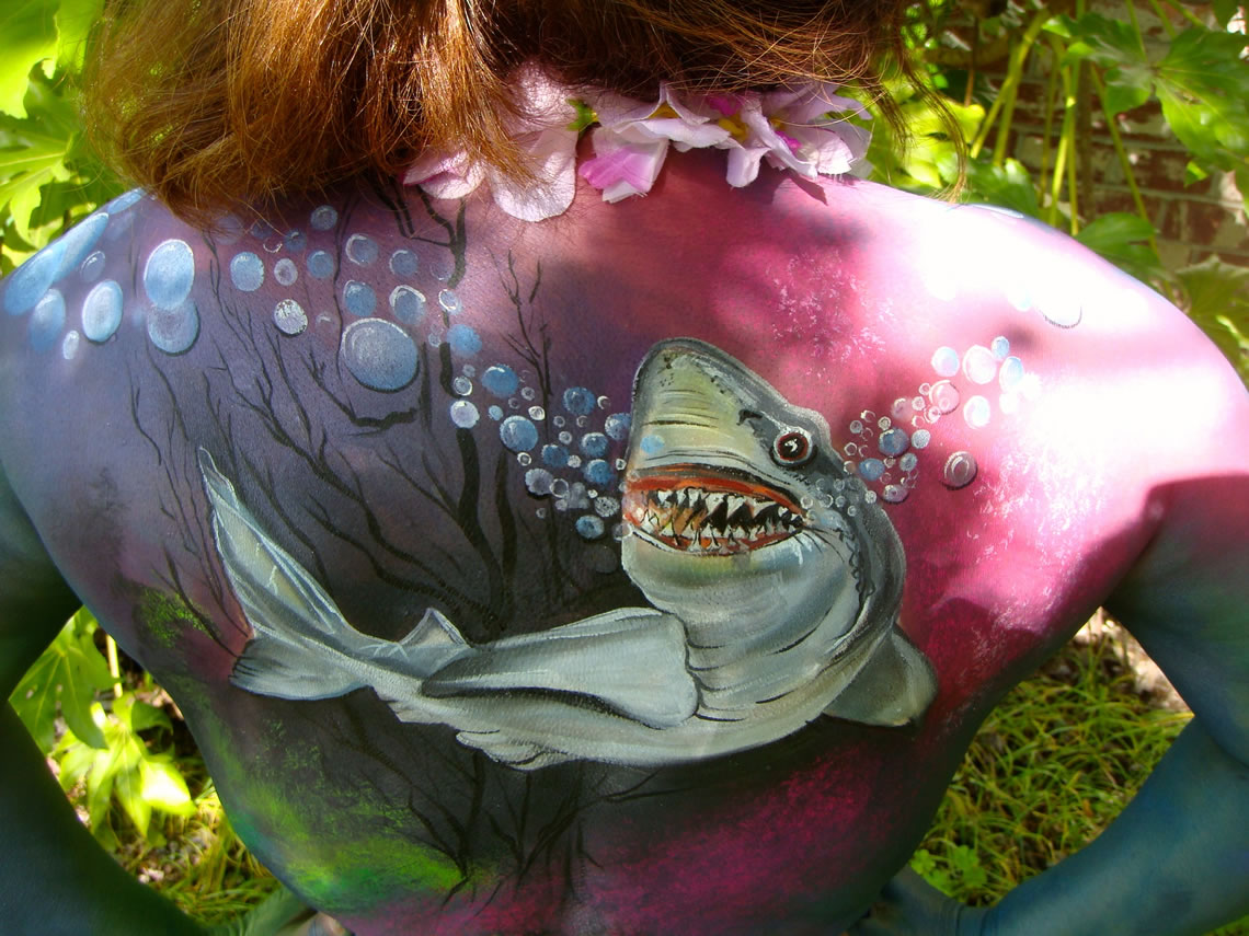 body art shark 1