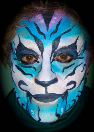 face painting blacklight 1