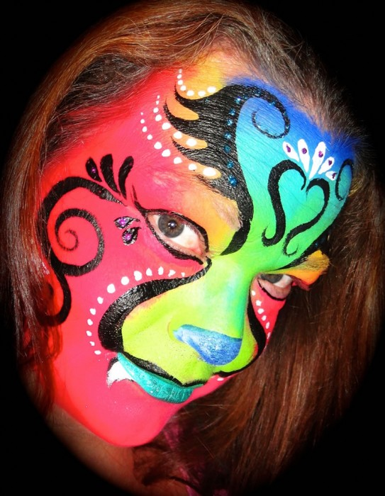 face painting blacklight 25