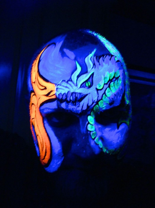 face painting blacklight 3