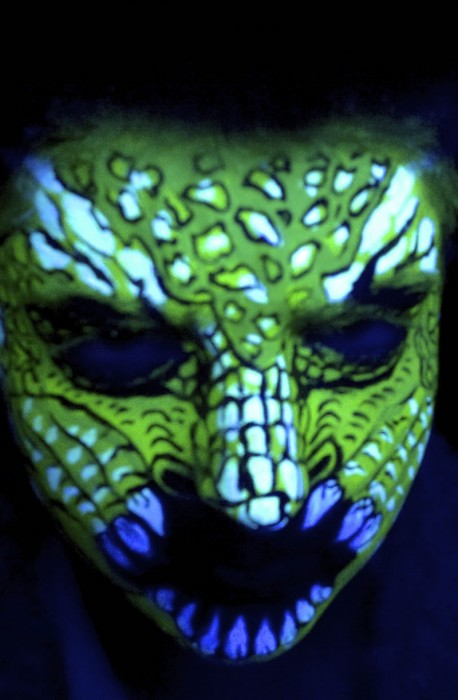 face painting blacklight 5