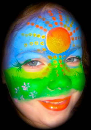 face painting blacklight 6