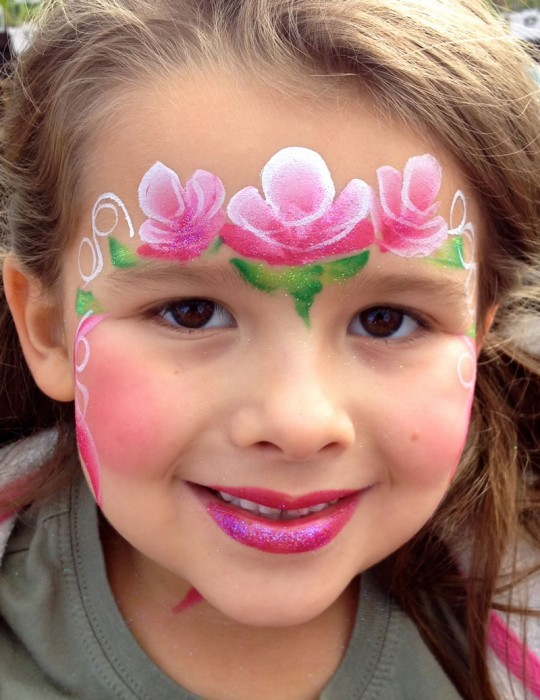 face painting butterflies flowers 100