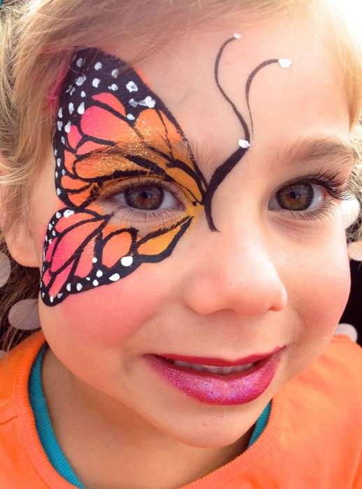 face painting butterflies flowers 101