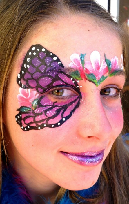 face painting butterflies flowers 13