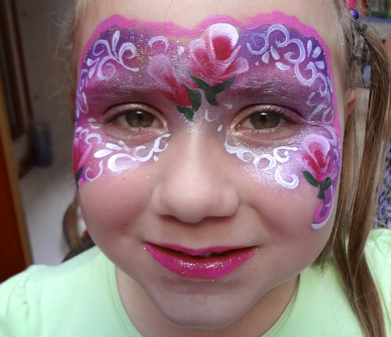 face painting butterflies flowers 16