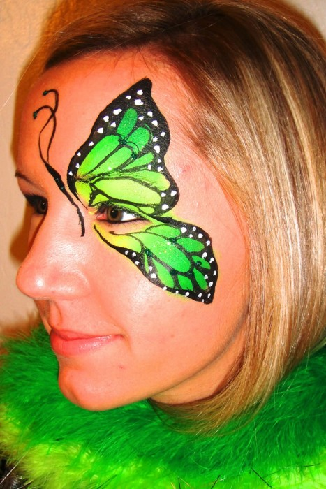 face painting butterflies flowers 18