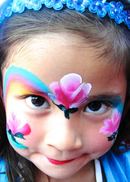 face painting butterflies flowers 20