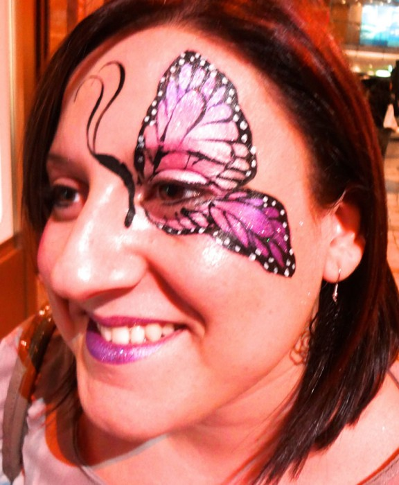 face painting butterflies flowers 21