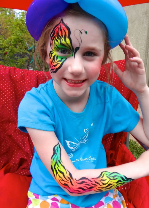 face painting butterflies flowers 24