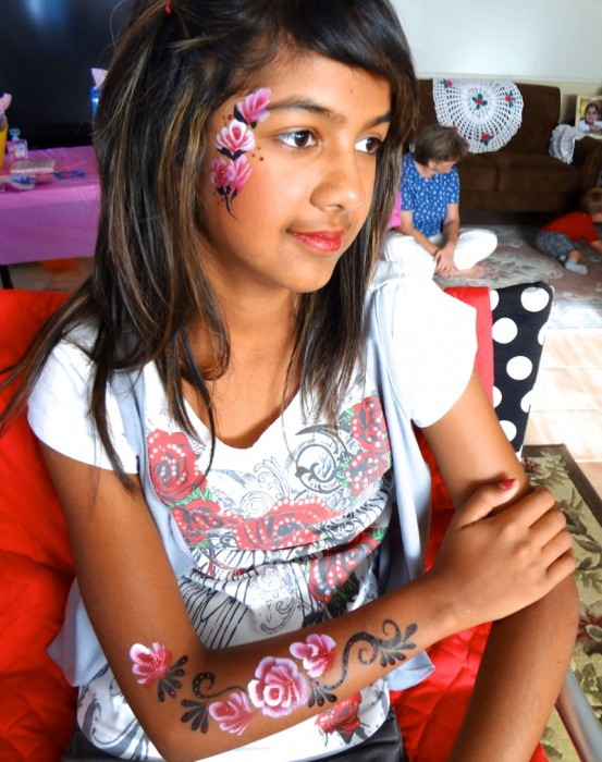 face painting butterflies flowers 25