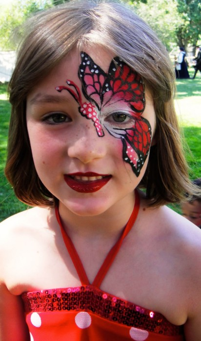 face painting butterflies flowers 26