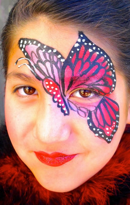face painting butterflies flowers 3