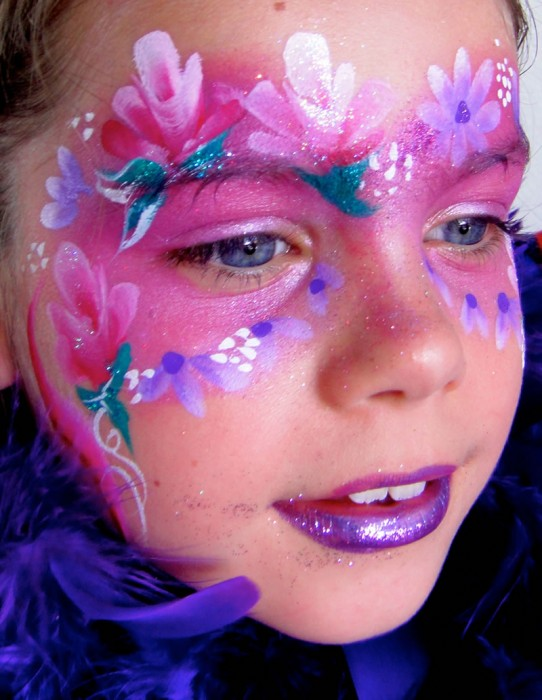 face painting butterflies flowers 37
