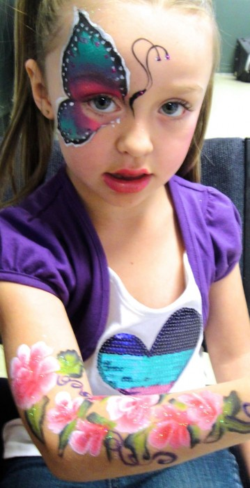 face painting butterflies flowers 39
