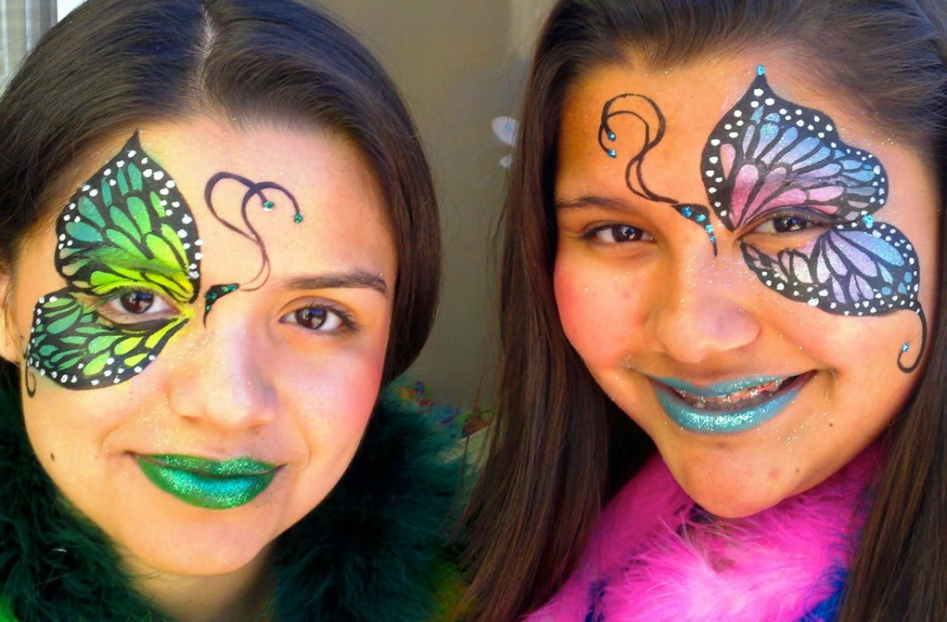 face painting butterflies flowers 4