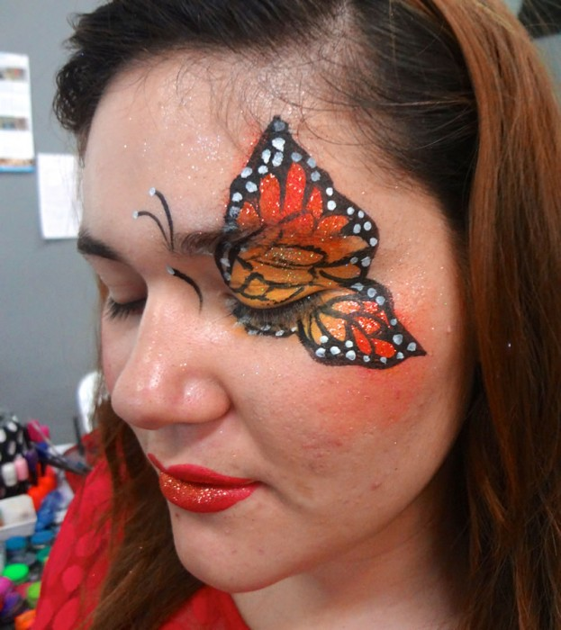 face painting butterflies flowers 48