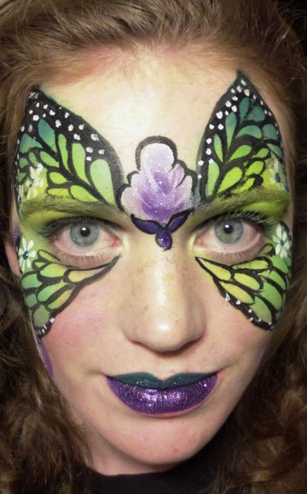 face painting butterflies flowers 5