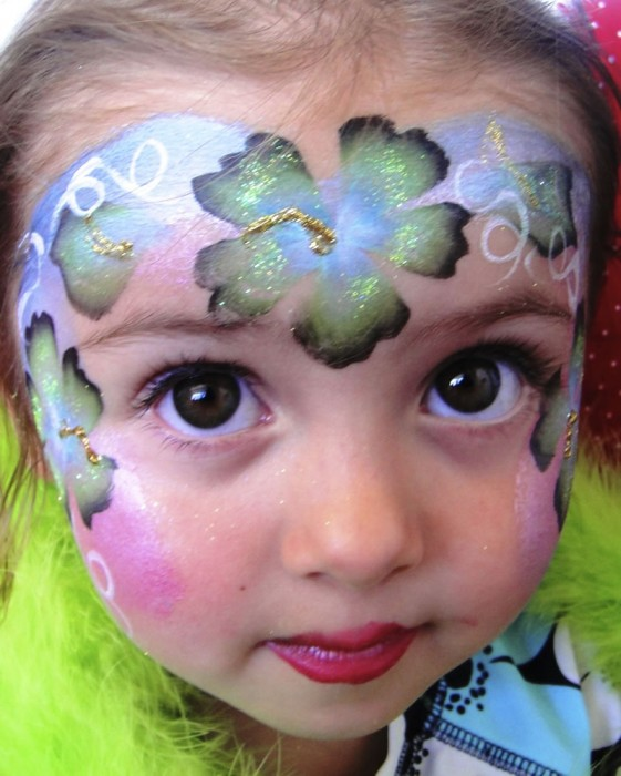 face painting butterflies flowers 53