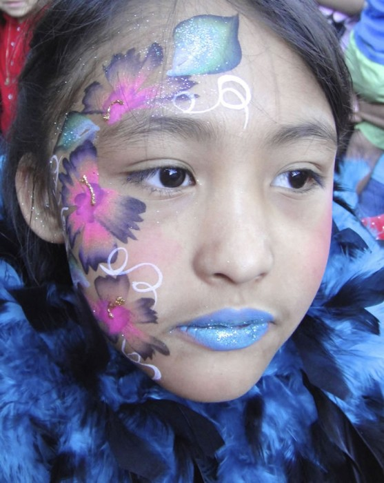 face painting butterflies flowers
