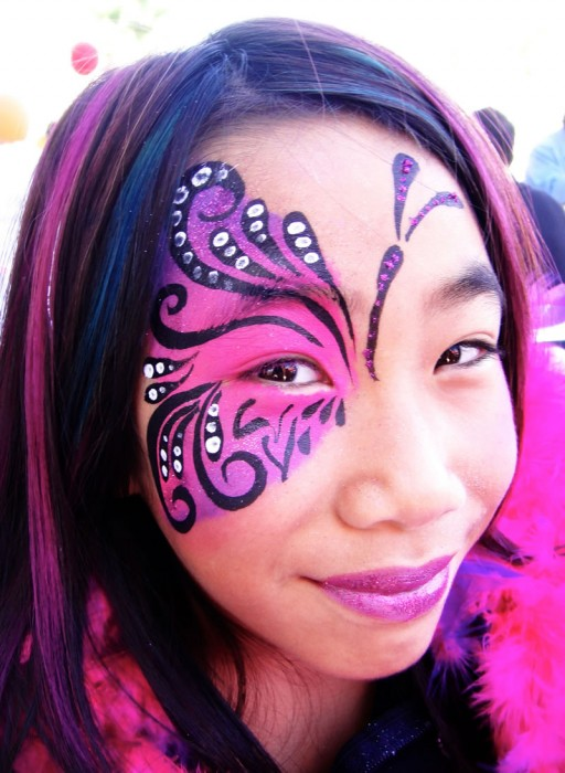 face painting butterflies flowers 57