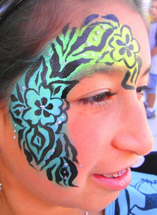 face painting butterflies flowers 65