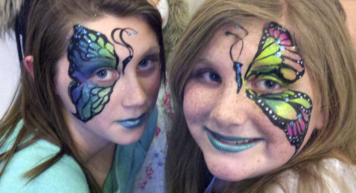face painting butterflies flowers 79