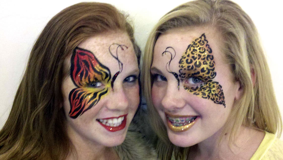 face painting butterflies flowers 80