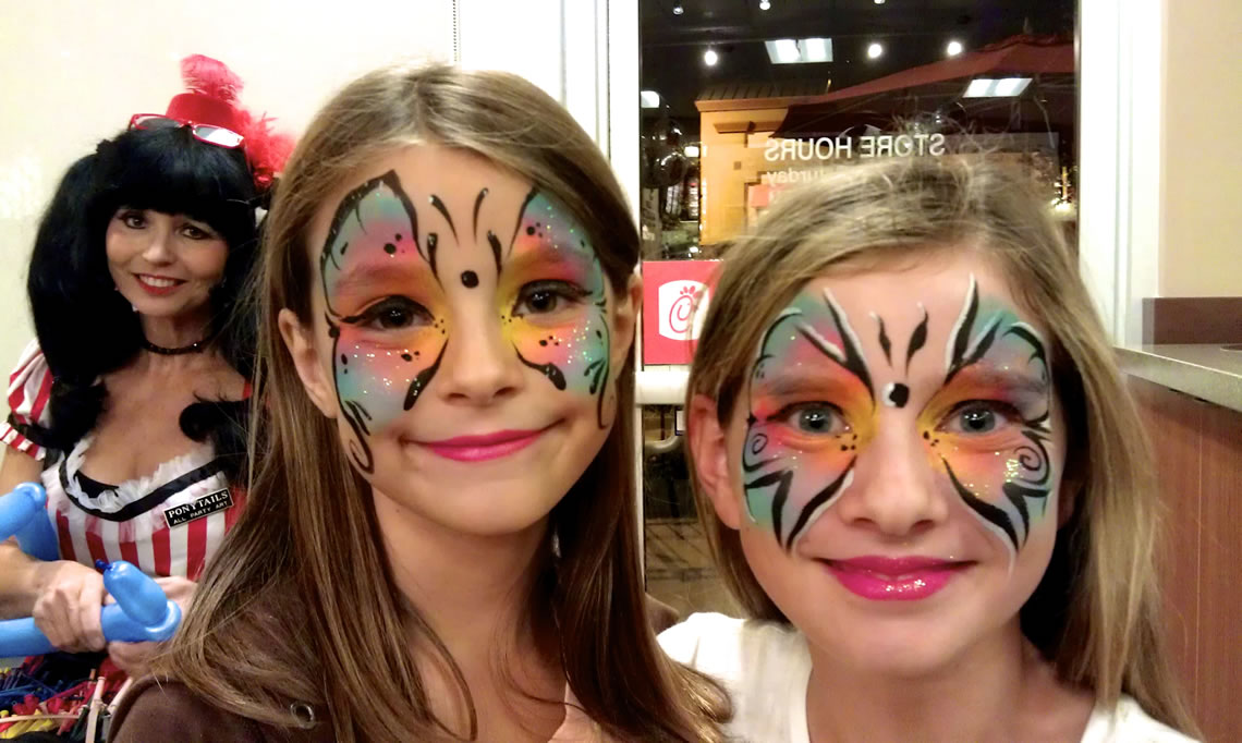 face painting butterflies flowers 81