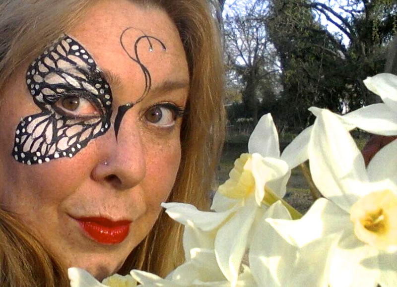 face painting butterflies flowers 83