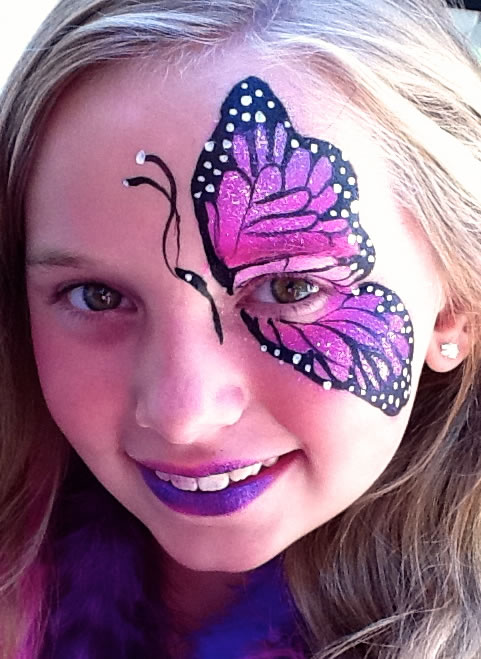 face painting butterflies flowers 85