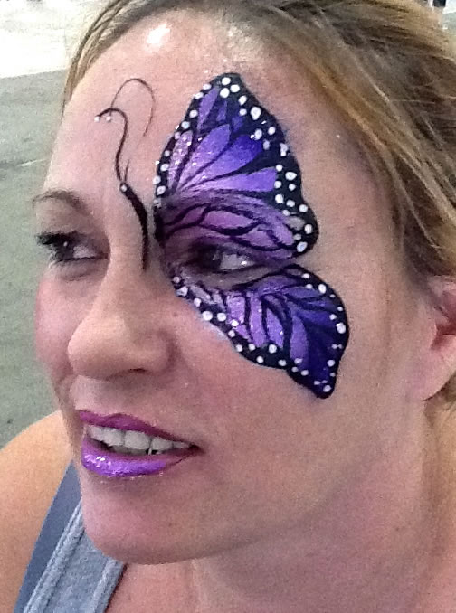 face painting butterflies flowers 87