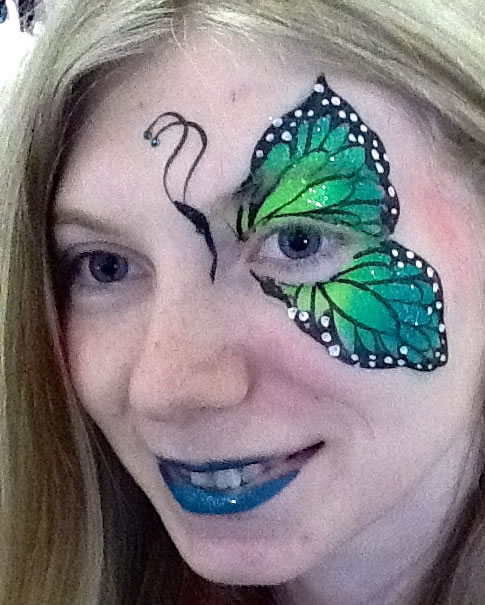 face painting butterflies flowers 89
