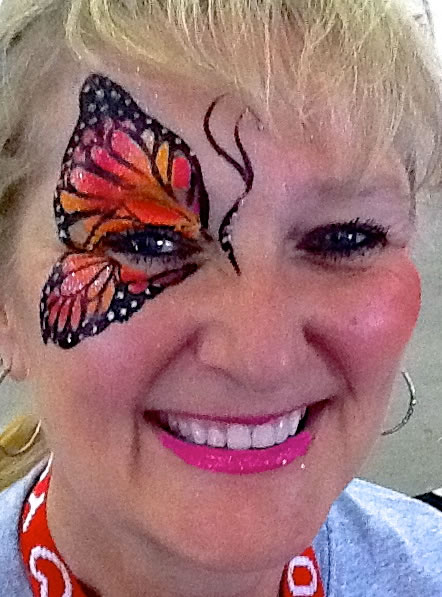face painting butterflies flowers 90
