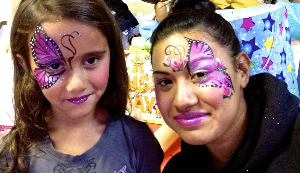 face painting butterflies flowers 93