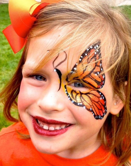 face painting butterflies flowers 96