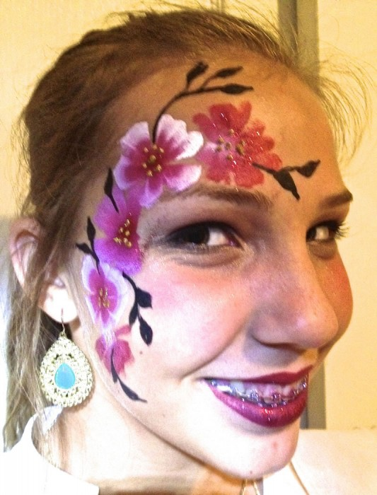 face painting butterflies flowers 98