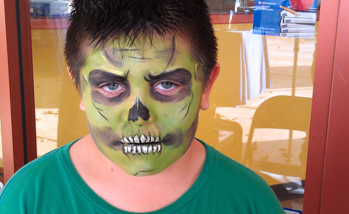 face painting monsters and gore 105