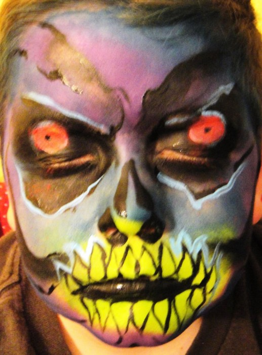 face painting monsters and gore 107