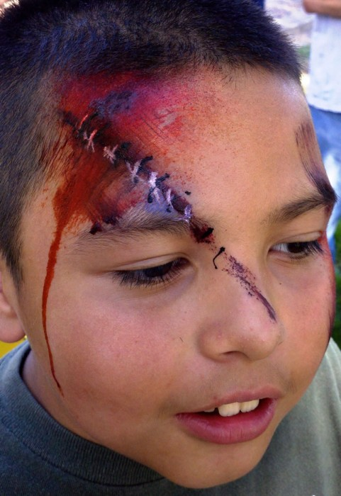 face painting monsters and gore 11