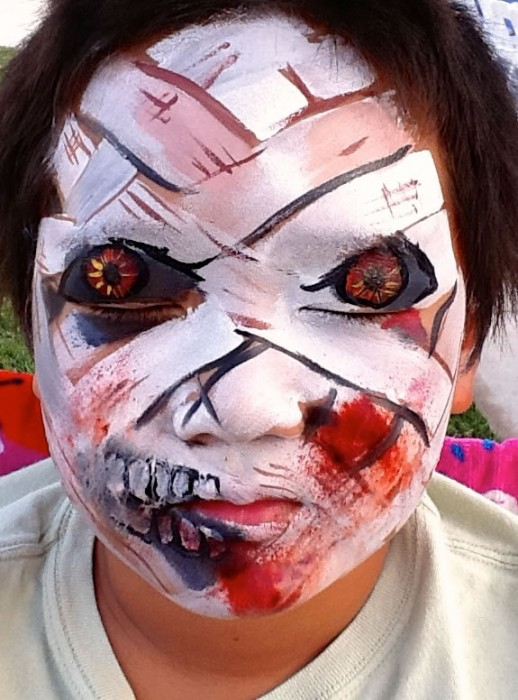 face painting monsters and gore 133