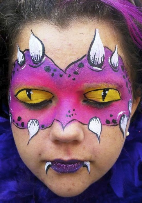 face painting monsters and gore 8